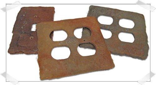 PCD: Faux Slate switchplates