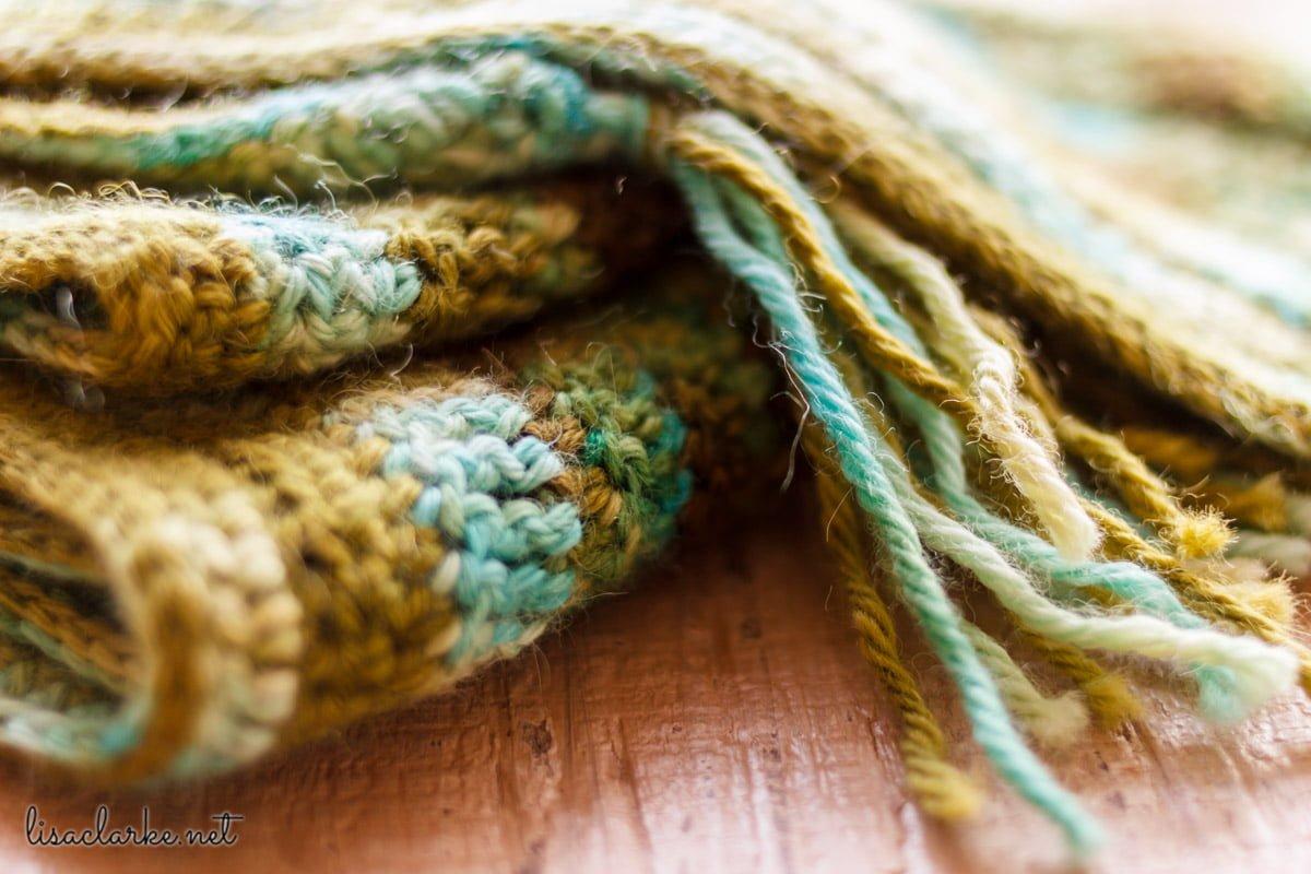 Lucky Charm Scarf crochet pattern at Polka Dot Cottage