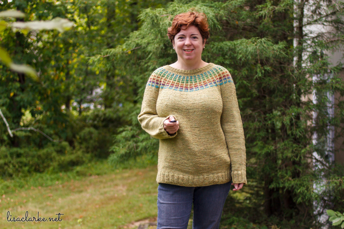 Porthole Pullover knitting pattern at Polka Dot Cottage