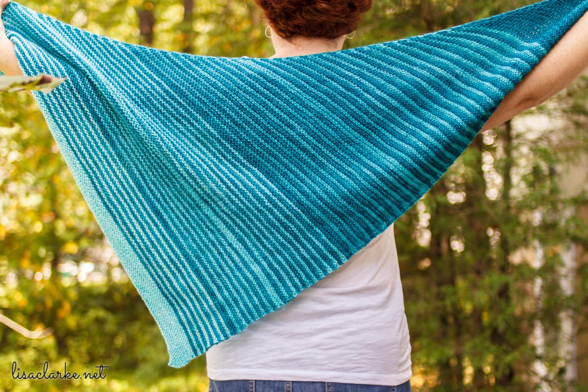 Vertical Hold Wrap knitting pattern at Polka Dot Cottage